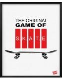 Pack of 4 fans illustrations skateboard original gift