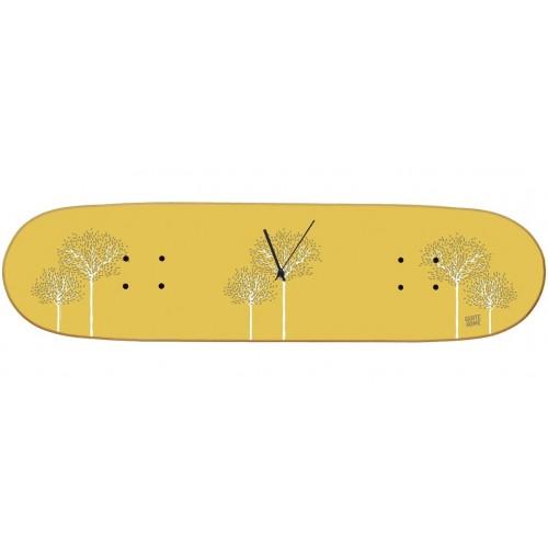 Skateboard Wall Clock Boneless - Birch Tree
