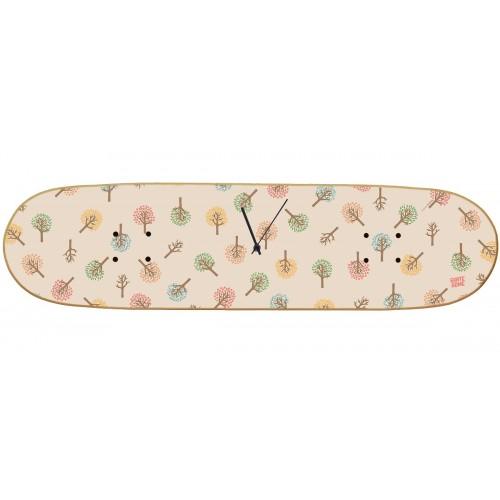 Skateboard Wall Clock Boneless - Fall Tree