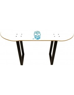 Skateboard Tabouret - White Skull