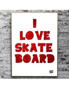 skateboard Illustration - I love skateboard