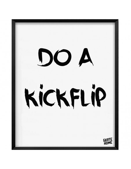 Skateboard Illustration - Do a kickflip
