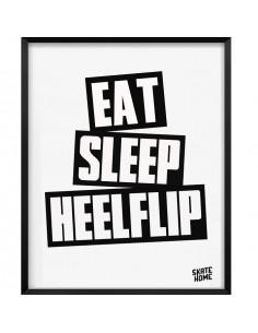 Skateboard Ilustración - Eat Sleep Heelflip