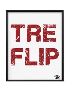 Skateboard Ilustración - Tre Flip