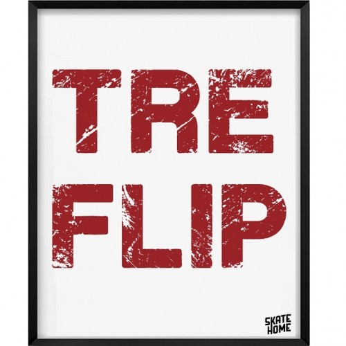 Skateboard Illustration - Tre Flip