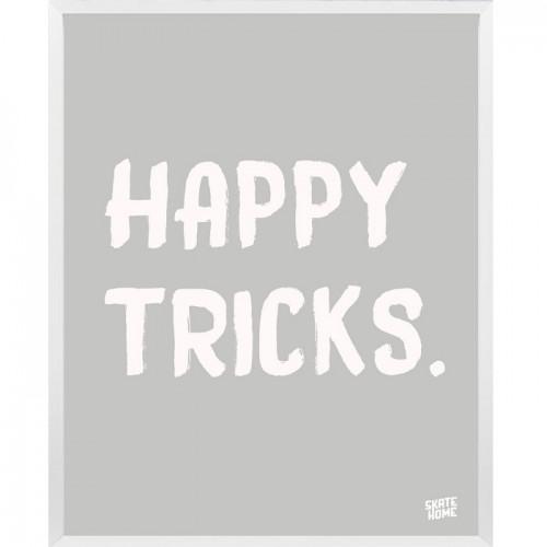 Skateboard Illustration - Happy Tricks