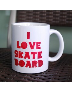 I love skateboard - Tasse café cadeau parfait