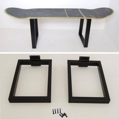 Pieds en métal pour tabouret skateboard, No comply