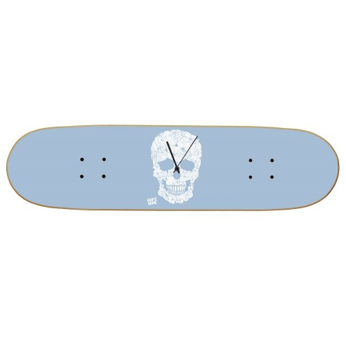 Skateboard Horloge murale Boneless - Floral Skull
