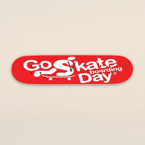 Go Skateboarding Day, Wanduhr Rot
