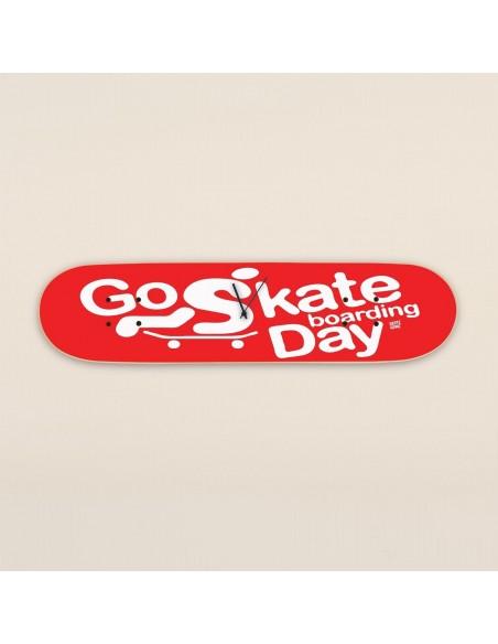 Go Skateboarding Day, reloj de pared Rojo