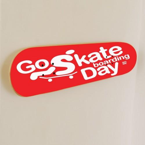 Go Skateboarding Day, Skate art Décoration Rouge