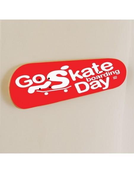Go Skateboarding Day, Skate art Dekoration Rot