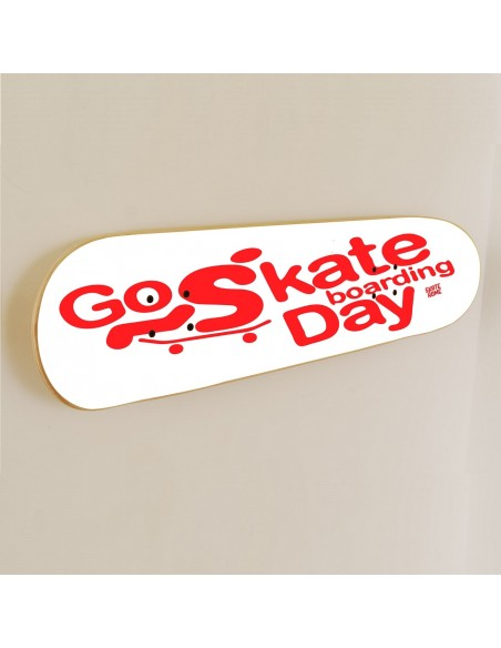 Go Skateboarding Day, Skate art Décoration Blanc