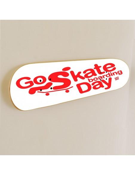 Go Skateboarding Day, Skate art Dekoration Weiß