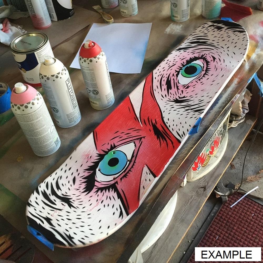 Dekorieren sie es selbst skateboard wanduhr boneless - Selbst dekorieren ...