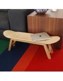 2 Geschenke für Skateboardfahrer: Hocker und garderobenleiste , natürliche Farbe
