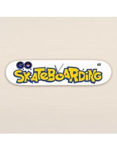 Pokemon Go Skateboarding - Skateboard Wanduhr
