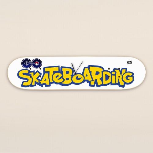 Pokemon Go Skateboarding - Skateboard reloj de pared