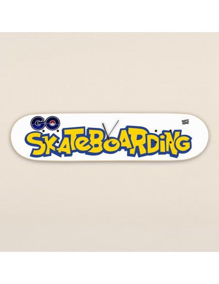 Pokemon Go Skateboarding - Skateboard Horloge murale