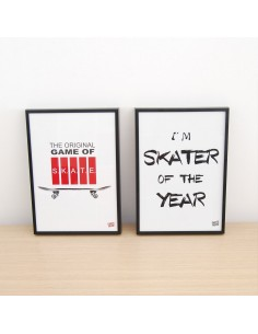 Pack 2 ilustraciones - Game of skate y skater of the year