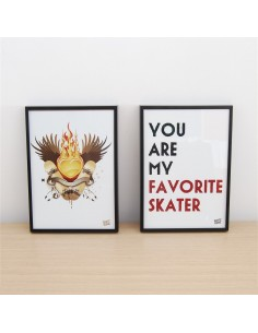 Pack 2 ilustraciones - Keep Skateboarding y you are my avorite skater