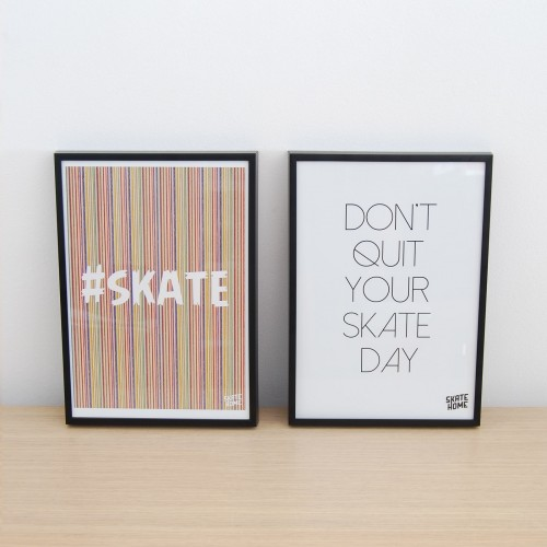 Pack 2 illustrations - skate and Dont quit your skate day