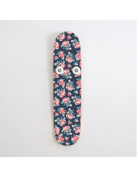 Vertical Skateboard Coat Rack Hanplant, Small Roses