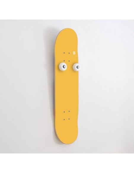 Vertikal Skateboard Garderobenständer Handplant, Gelb