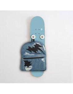 Vertikal Skateboard Garderobenständer Handplant, Blauer Himmel
