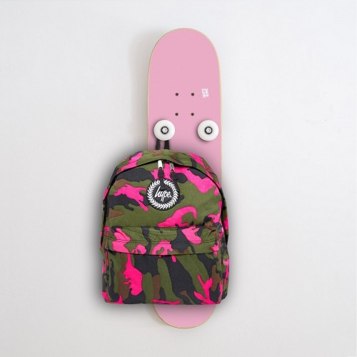 Vertical Skateboard Coat Rack Hanplant, Pink