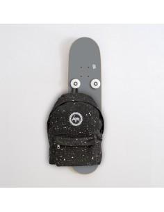 Vertical Porte-manteau Skateboard Handplant, Gris