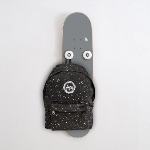 Vertical Skateboard Coat Rack Hanplant, Gray