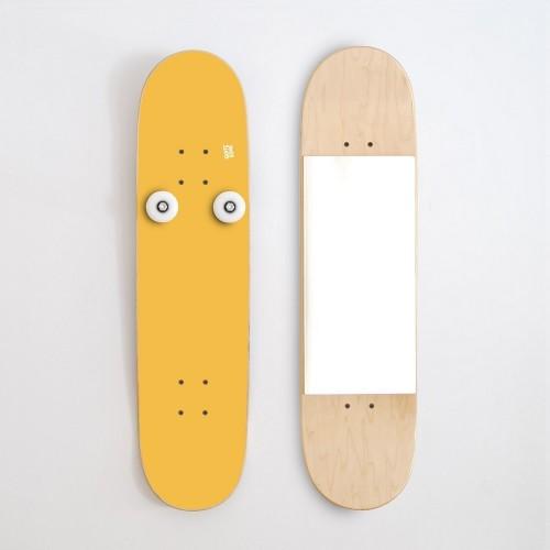 Vertikal Garderobenständer und Spiegel, Gelb
