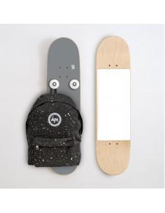 Vertikal Garderobenständer und Spiegel, Grau