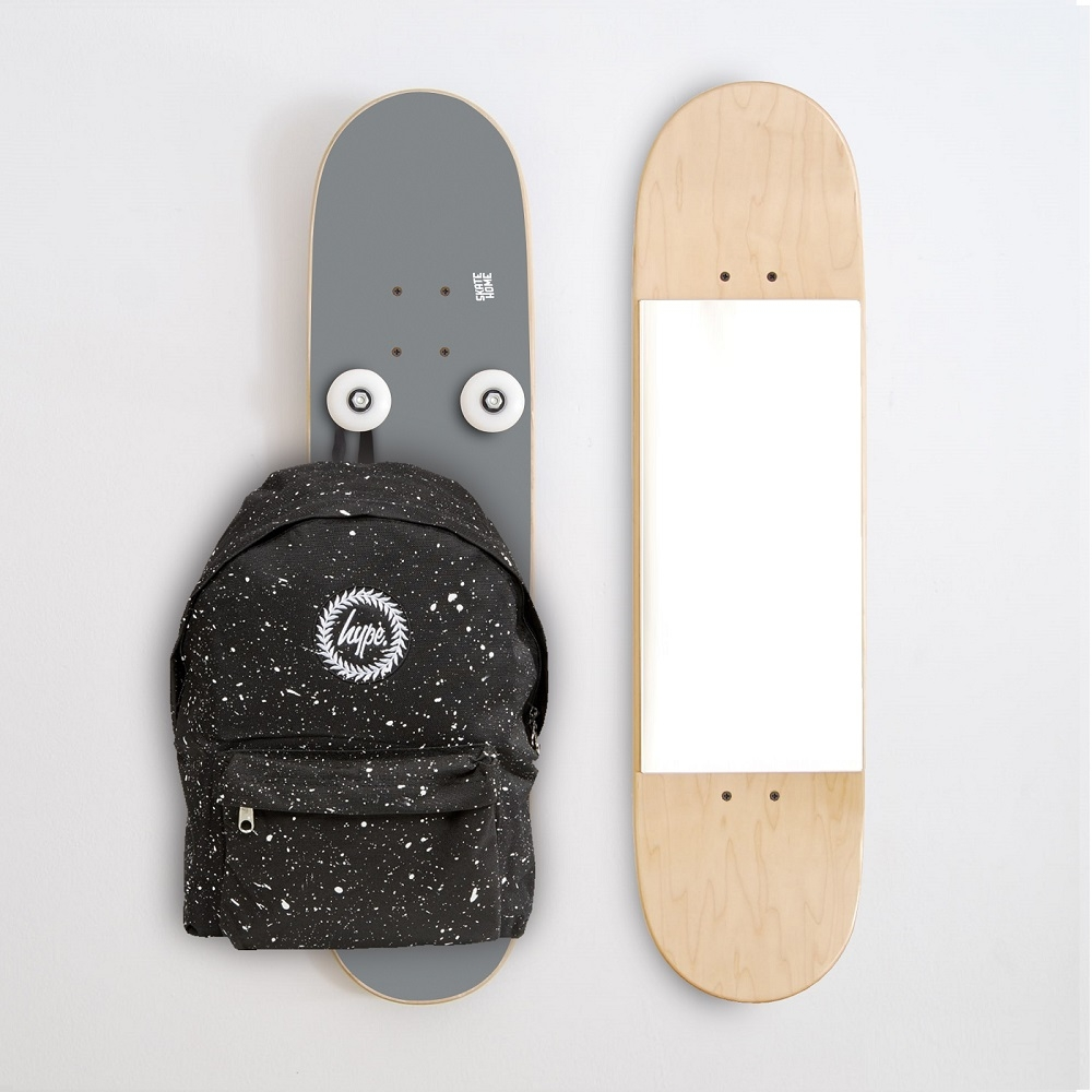 guide cadeaux pour les skateurs perchero miroir vertical skate. Black Bedroom Furniture Sets. Home Design Ideas