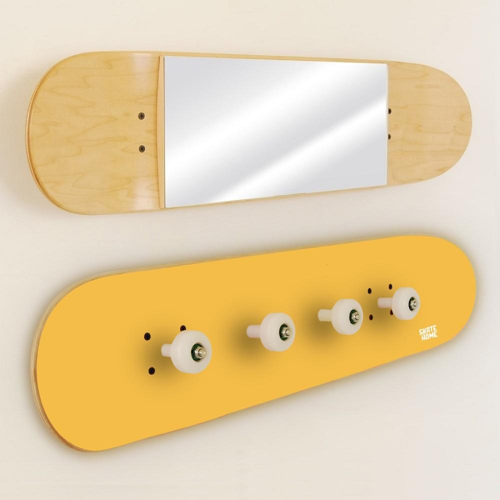 porte manteau et miroir skateboards. Black Bedroom Furniture Sets. Home Design Ideas
