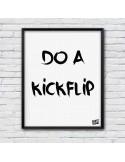 illustration skateboard Do a Kickflip