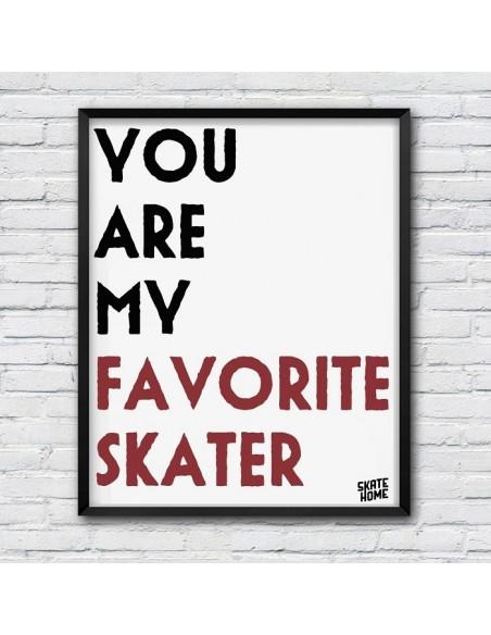You Are My Favorite Skater - Download Illustration