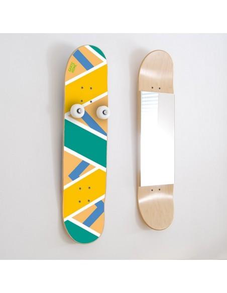 Das beste Geschenk für Skateboarder - Vertikal Wandgarderobe und Spiegel, Olliepops - Acid