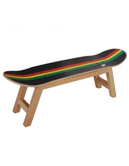 Skateboard tabouret Nollie Flip - Rasta décoration