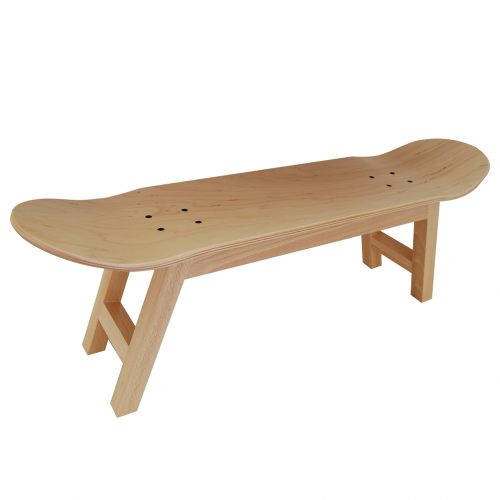 Skateboard stool Nollie Flip, natural wood color