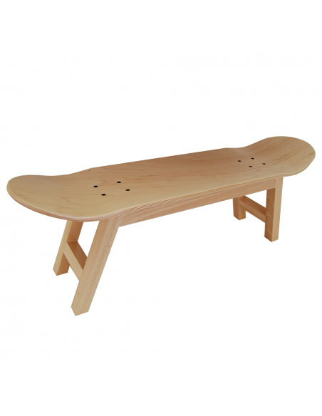 Skate Taburete Nollie Flip, color madera natural