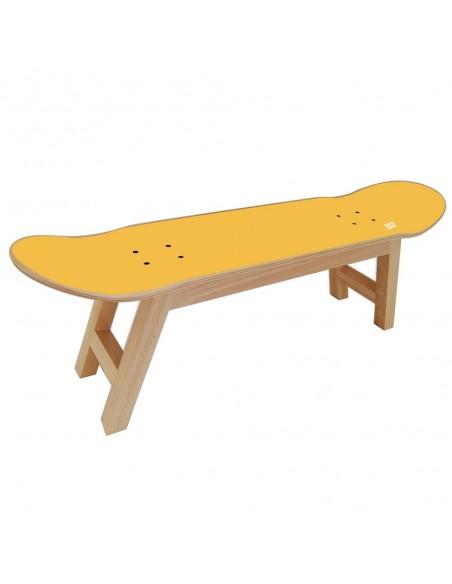 Skateboard tabouret Nollie Flip, Jaune