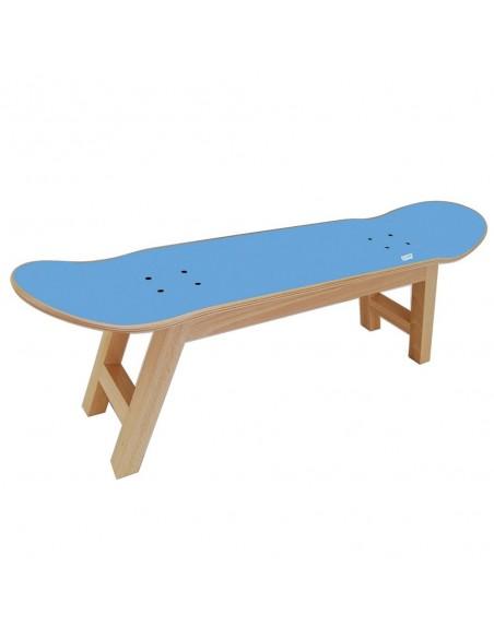 Skateboard hocker Nollie Flip, Blau