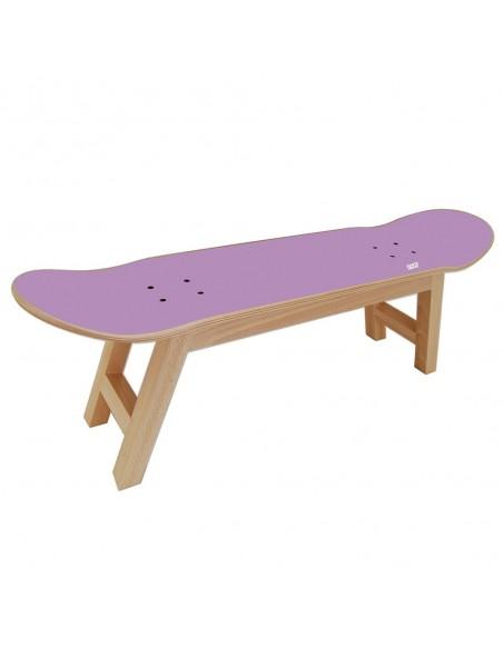 Skateboard hocker Nollie Flip, Lila
