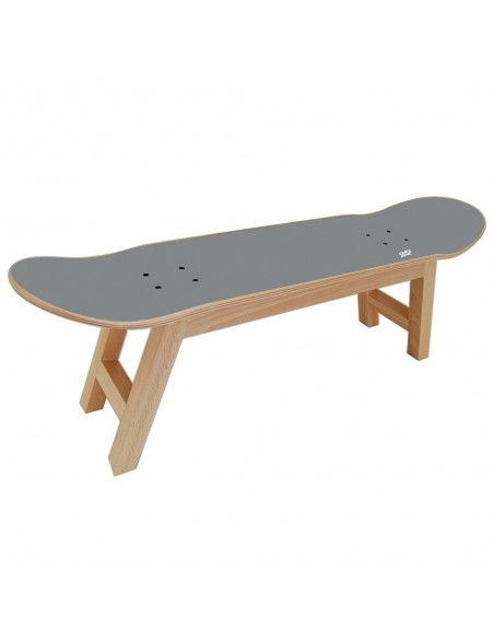 Skateboard hocker Nollie Flip, Grau