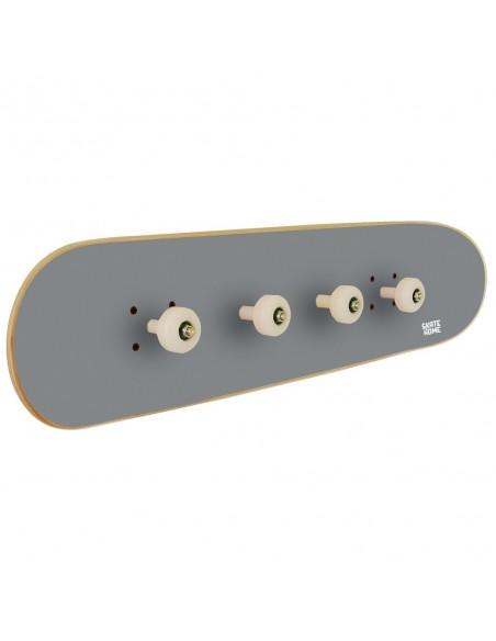 Skateboard Portemanteau Pivot Grind, Gris