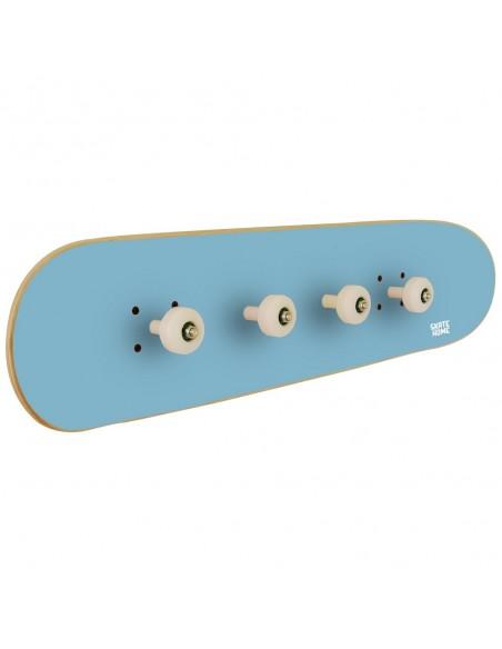 Skateboard Wall Coat rack Pivot Grind, Sky Blue