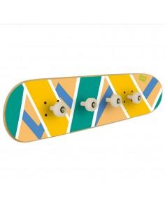 décoration skate pour chambre d'adolescent - porte-manteau Skateboard